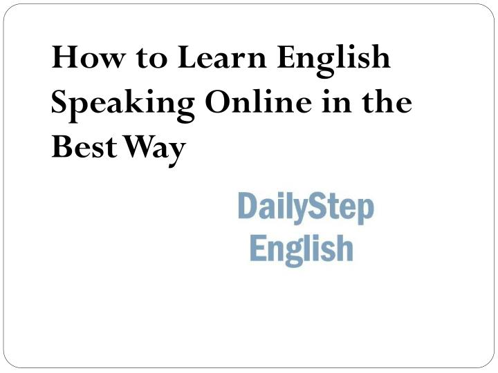 Best Way For You To Speak English - YouTube