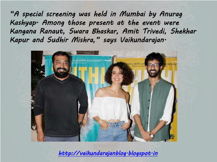 """A special screening was held in Mumbai by"