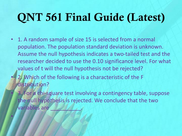 Qnt 561 final guide latest