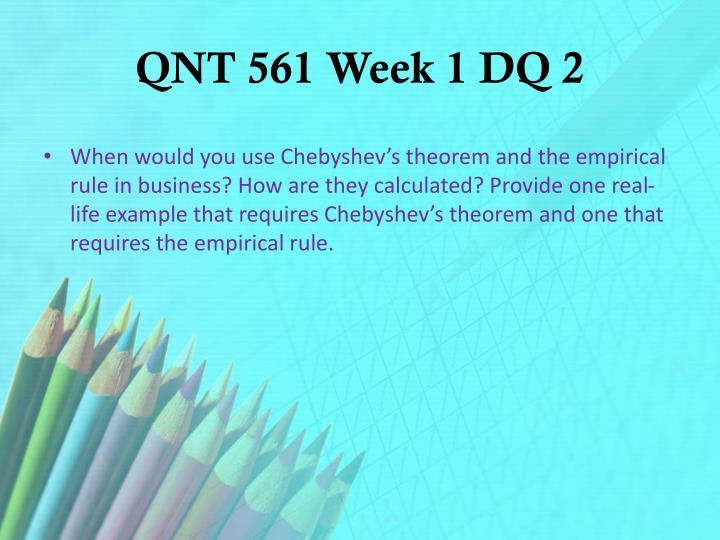 QNT 561 Week 1 DQ 2