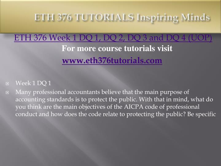 ETH 376 TUTORIALS