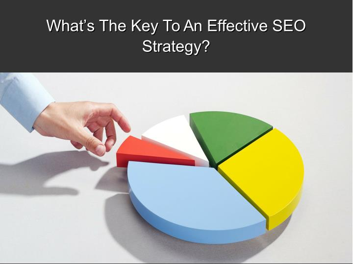 What's The Key To An Effective SEO