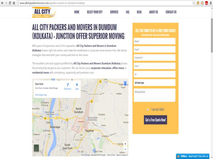 Packers movers in dumdum kolkata all city packers movers