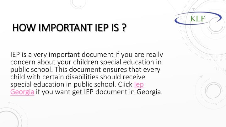 How important iep is