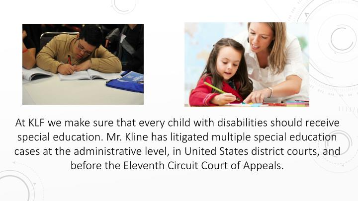 At KLF we make sure that every child with disabilities should receive special education.