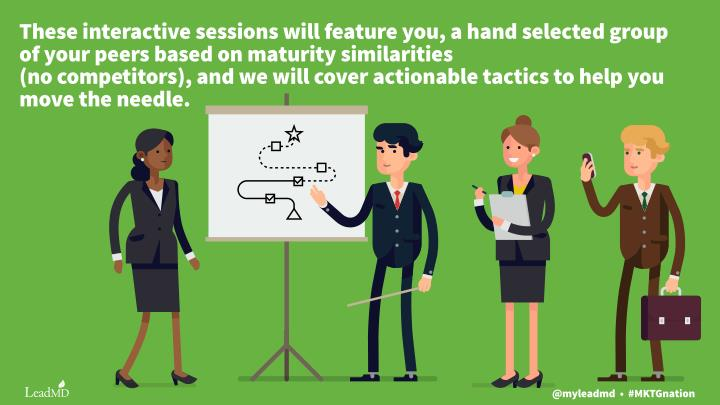 These interactive sessions will feature you, a hand selected group