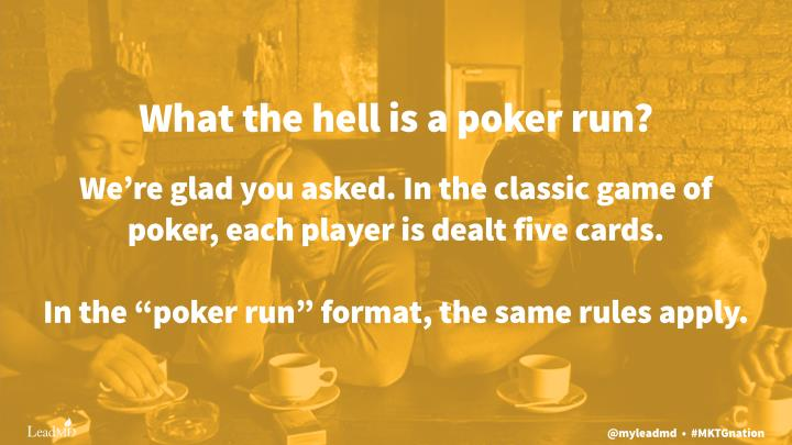 What the hell is a poker run?