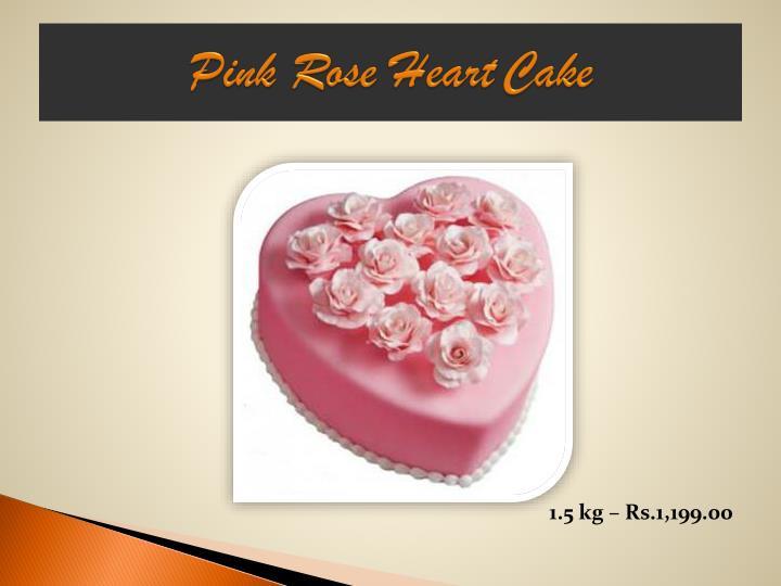 Pink Rose HeartCake