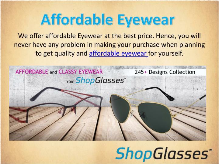Affordable Eyewear