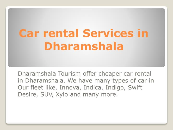 Car rental Services in Dharamshala