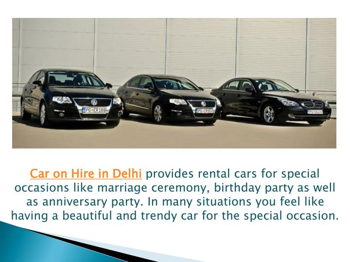 Car on Hire in Delhi