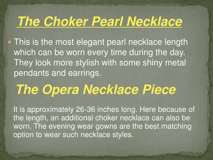 The Choker Pearl Necklace