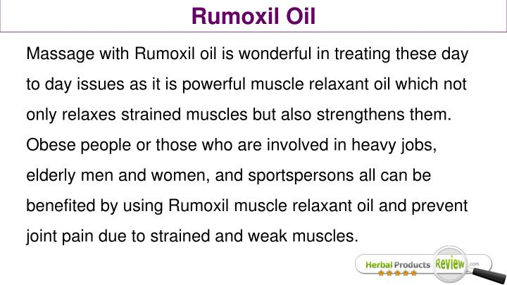 Rumoxil Oil