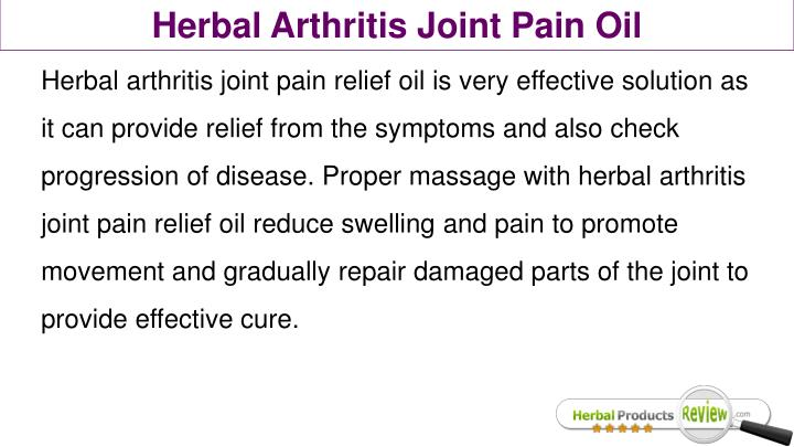 Herbal Arthritis Joint Pain Oil