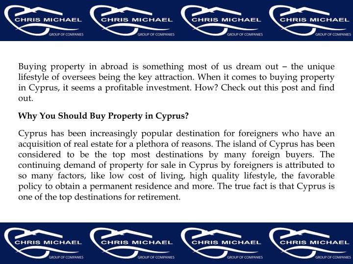 Buying property in abroad is something most of us dream out