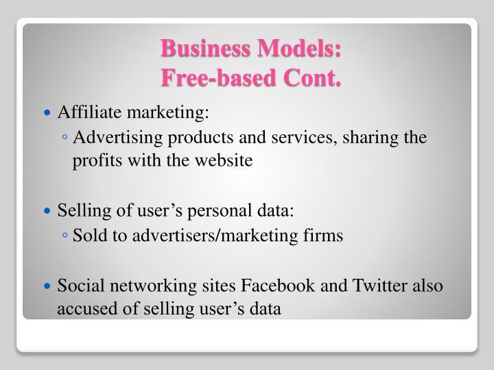 Affiliate marketing: