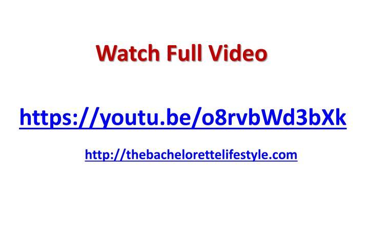 Watch Full Video