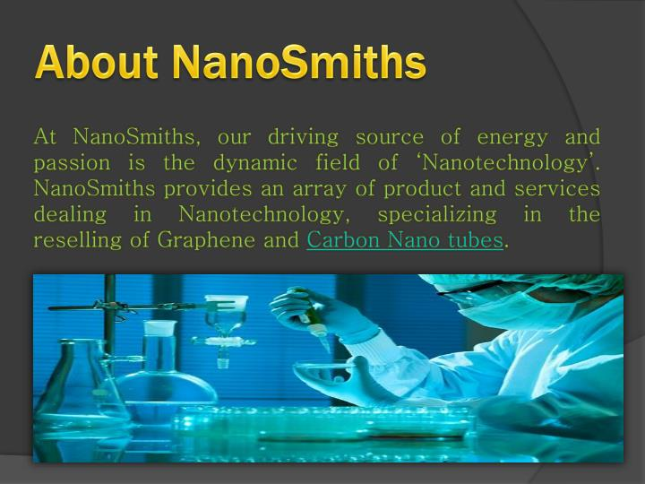 About nanosmiths
