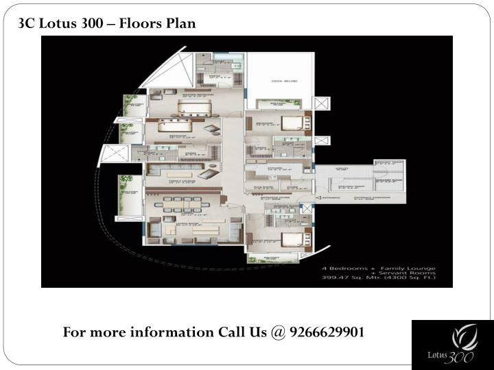 3C Lotus 300 – Floors Plan