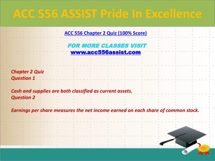 ACC 556 ASSIST Pride In Excellence