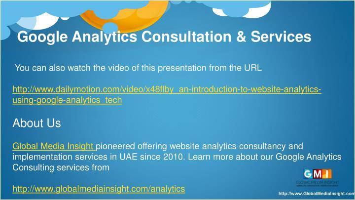 Google Analytics Consultation & Services