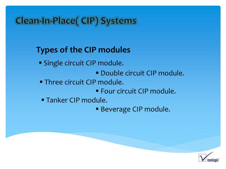 Types of the CIP modules