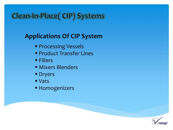 Applications Of CIP System