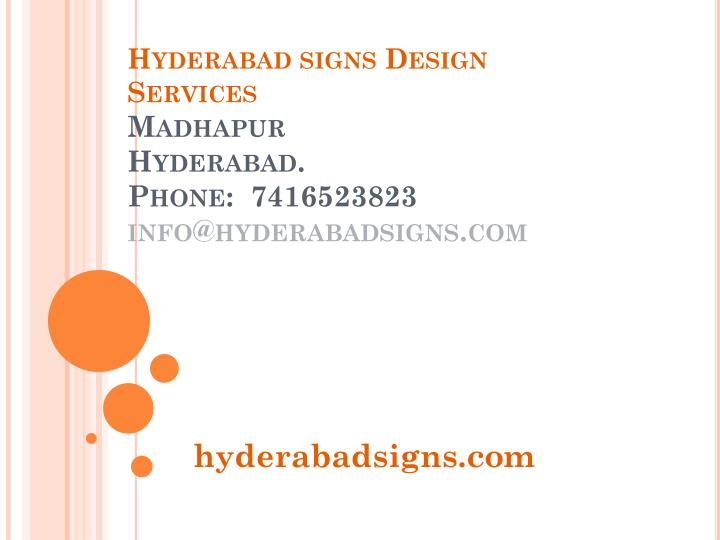 Hyderabad signs Design Services