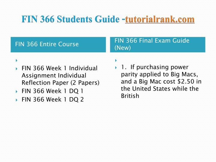 Fin 366 students guide tutorialrank com1