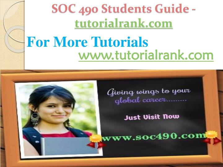 SOC 490 Students Guide -