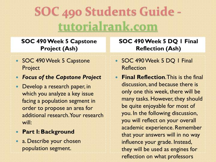 SOC 490 Week 5 Capstone Project (Ash)