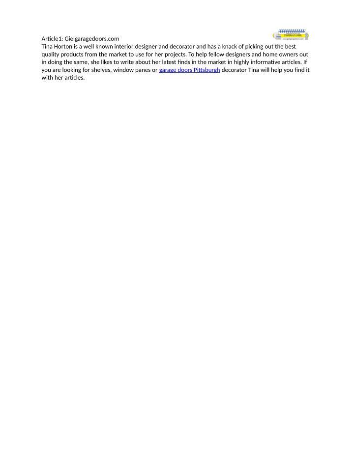 Article1: Gielgaragedoors.com