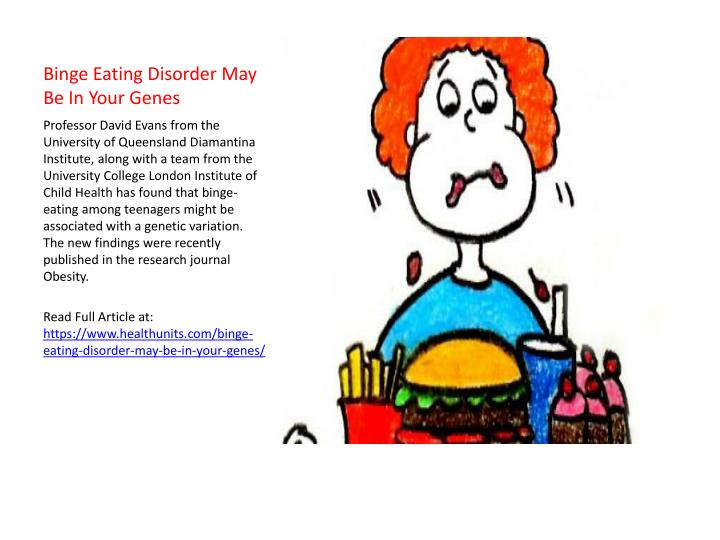 Binge Eating Disorder May Be In Your