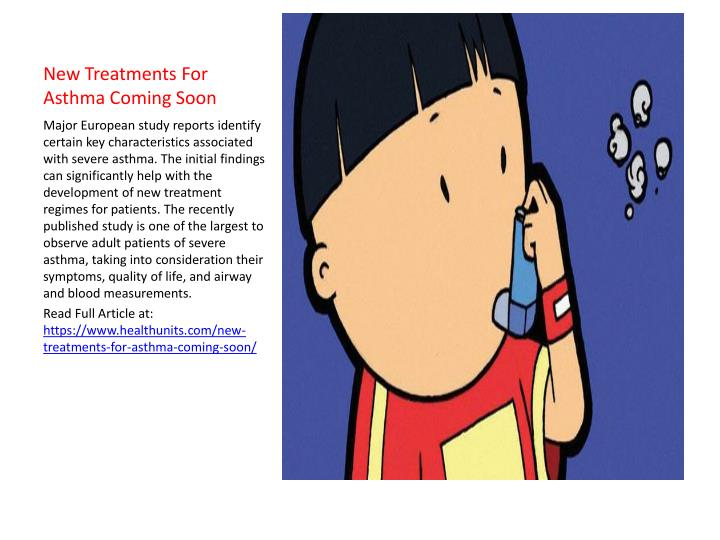 New treatments for asthma coming soon