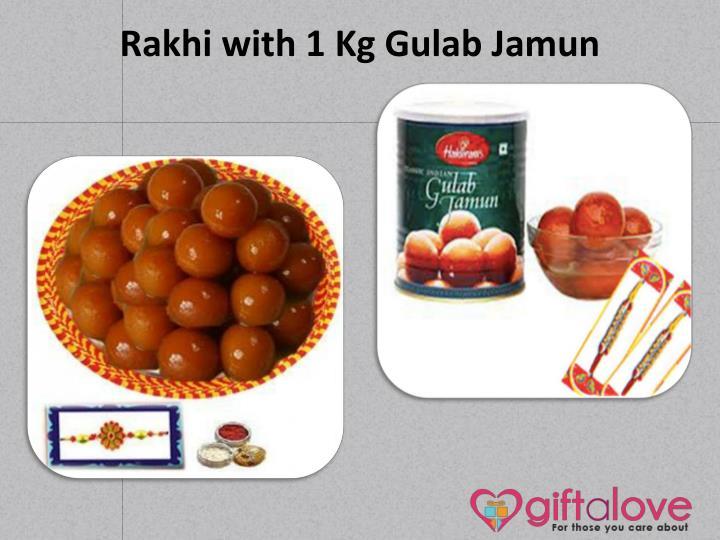 Rakhi with 1 Kg Gulab Jamun