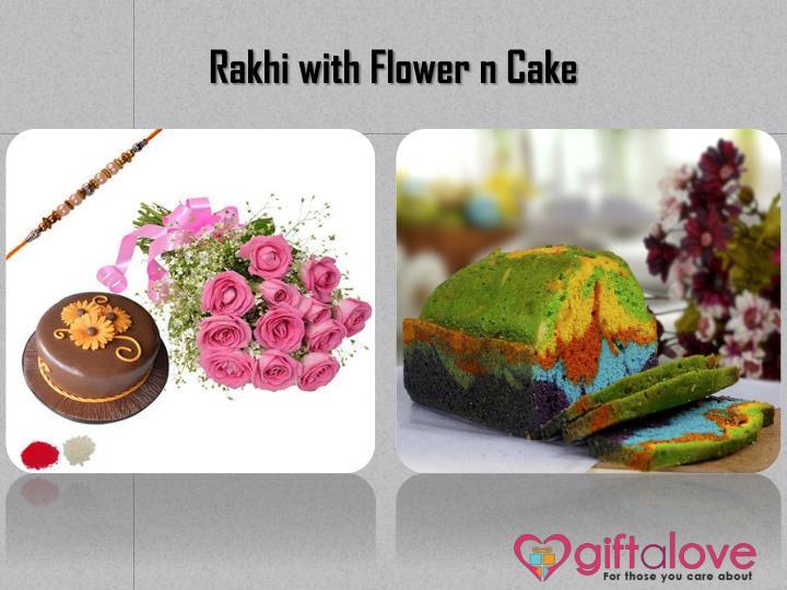Rakhi with Flower n Cake