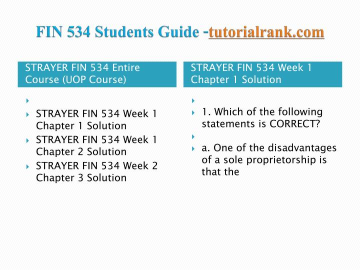 Fin 534 students guide tutorialrank com1