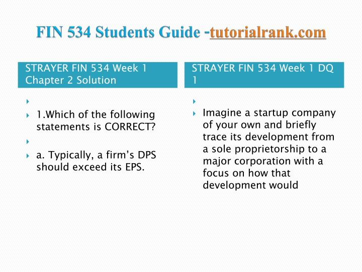Fin 534 students guide tutorialrank com2