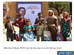 kids from udayan ngo were the first ones to receive the bag of joy