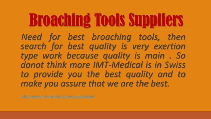 Broaching Tools Suppliers