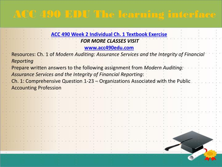 ACC 490 EDU The learning interface