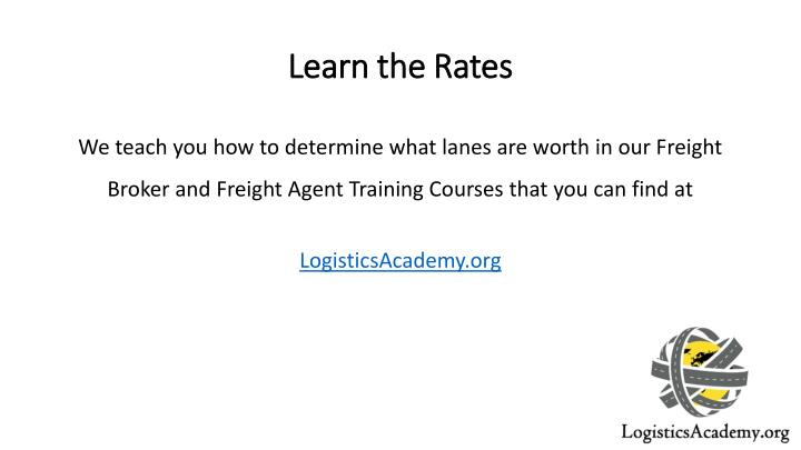 Learn the Rates