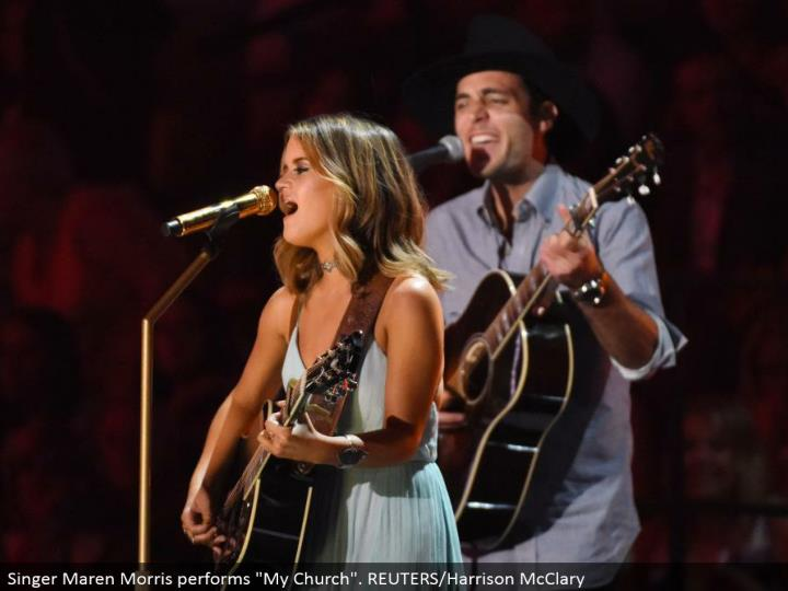 "Singer Maren Morris plays out ""My Church"". REUTERS/Harrison McClary"