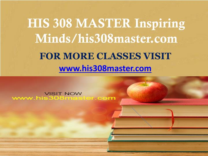 His 308 master inspiring minds his308master com