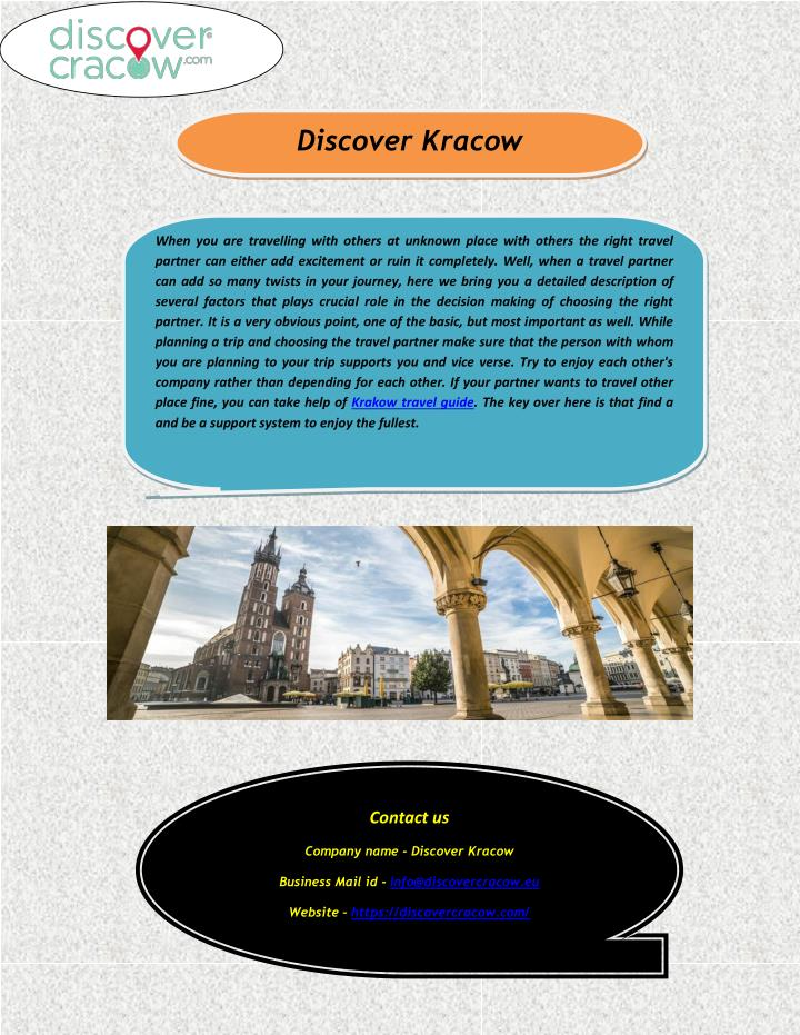 Discover Kracow