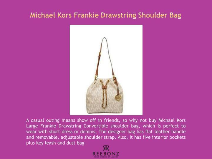 Michael Kors Frankie Drawstring Shoulder Bag