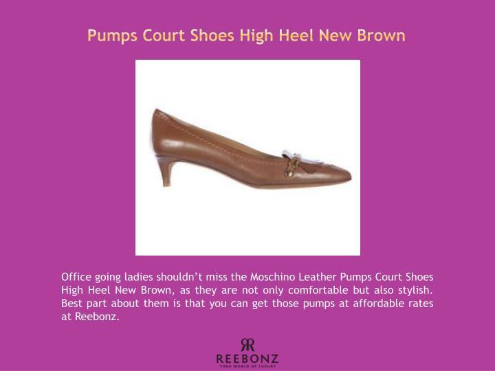 Pumps Court Shoes High Heel New Brown