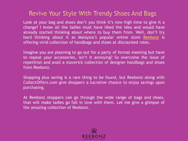 Revive Your Style With Trendy Shoes And Bags