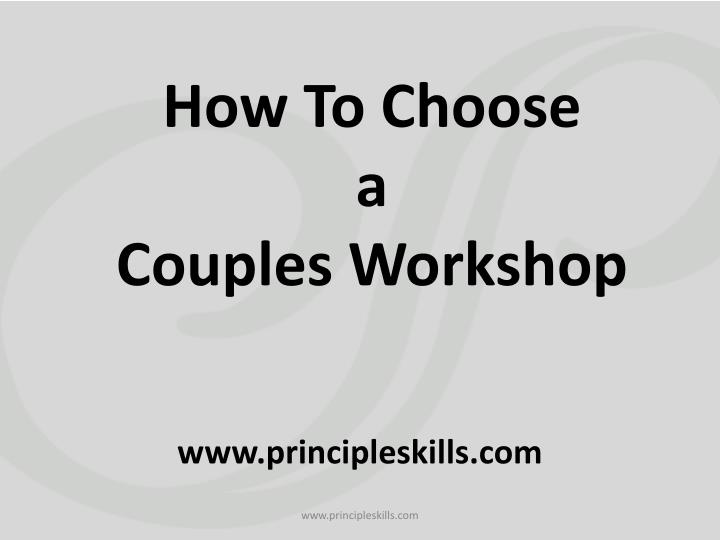 how to choose a couples workshop