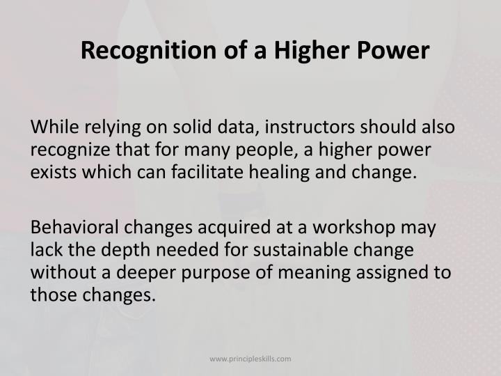 Recognition of a Higher Power
